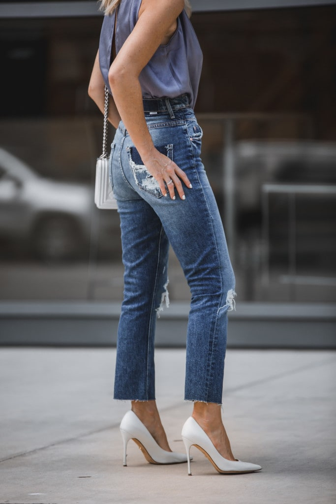 Mother High Rise Ripped Jeans
