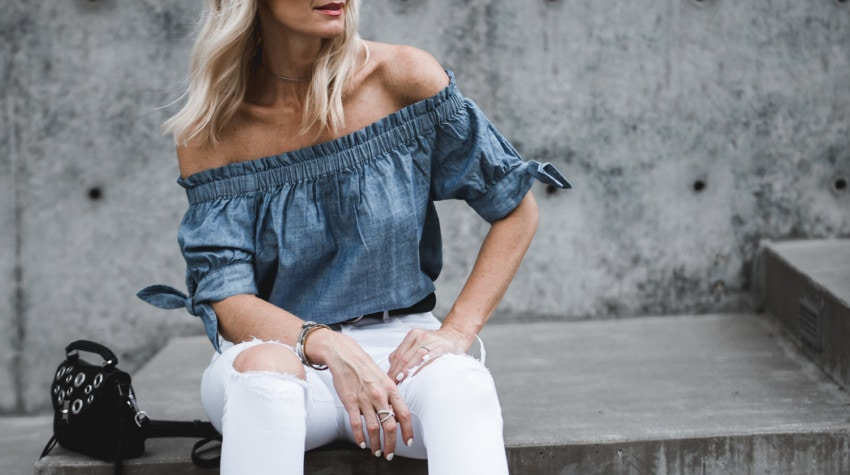 2 WAYS TO WEAR THE OFF THE SHOULDER TREND + A REMINDER ABOUT THE NORDSTROM ANNIVERSARY SALE