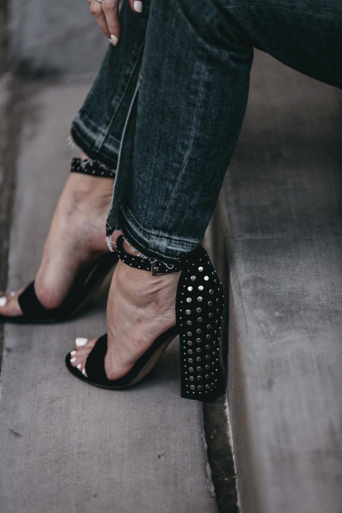Dolce Vita Studded Black Heels