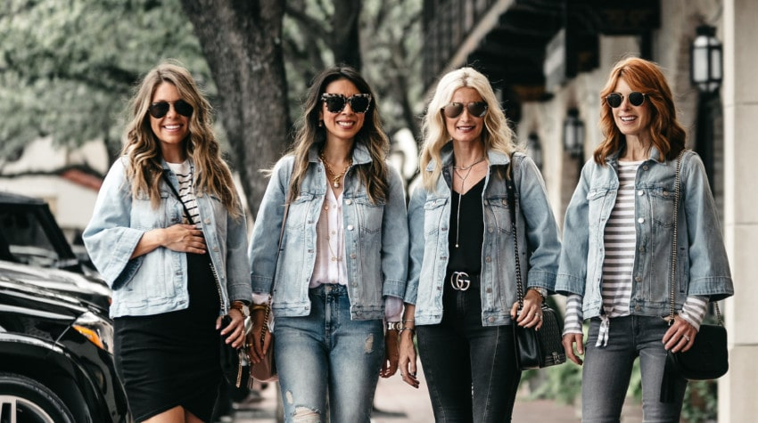 CHIC AT EVERY AGE FEATURING THE PERFECT DENIM JACKET ON MAJOR SALE