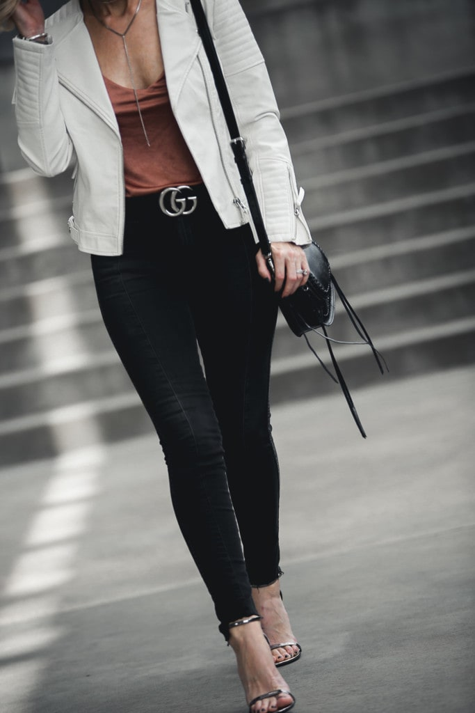 White Faux Leather Jacket