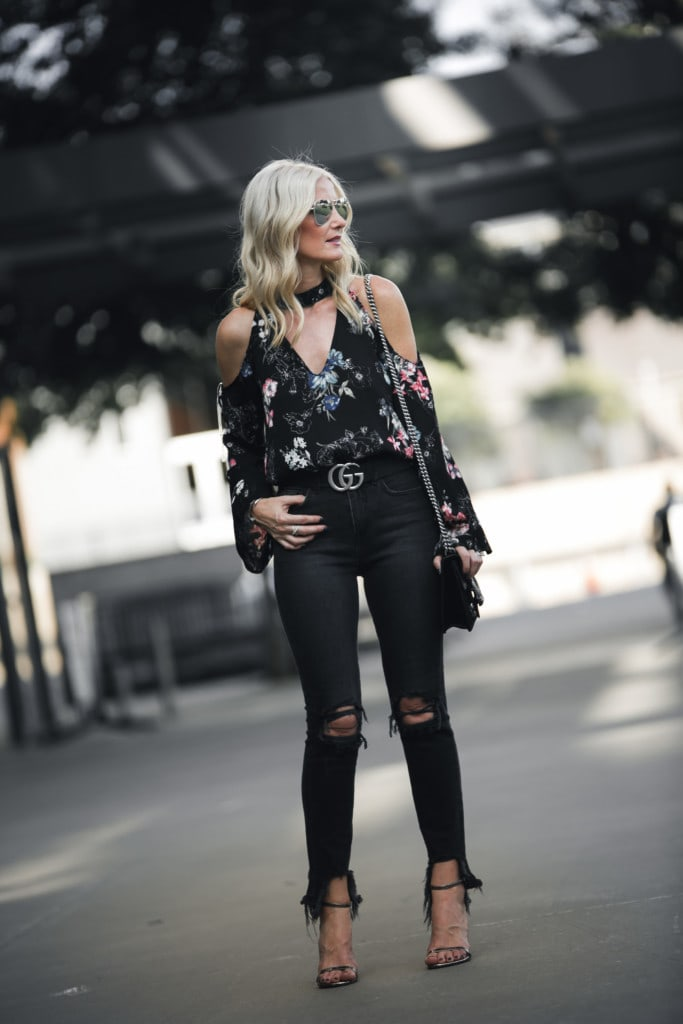 L'agence Black Ripped Jeans