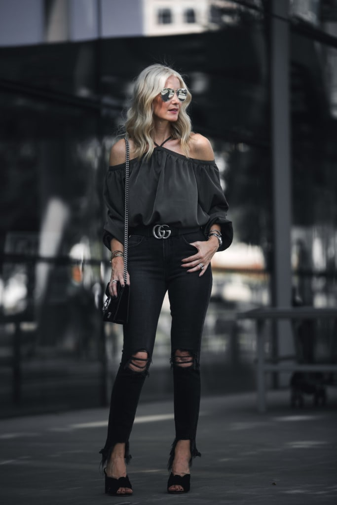 Off the Shoulder Halter Top