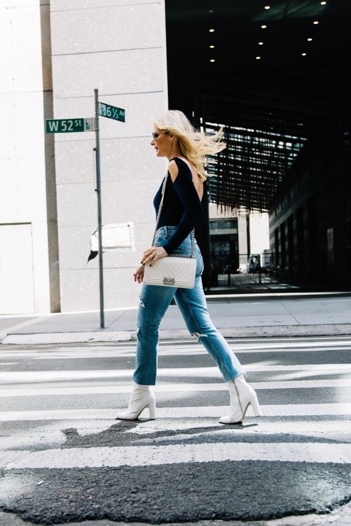 2 WAYS TO WEAR WHITE BOOTIES FROM NYFW