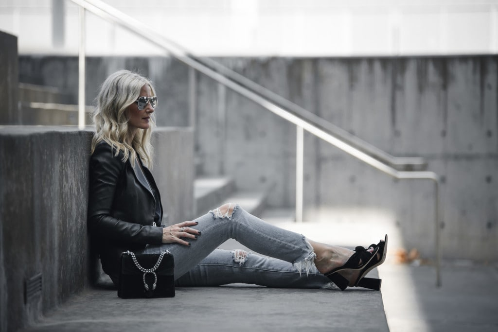 L'Agence Ripped Jeans