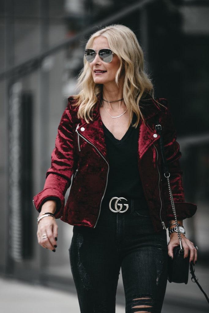 Blanknyc Velvet Moto Jacket