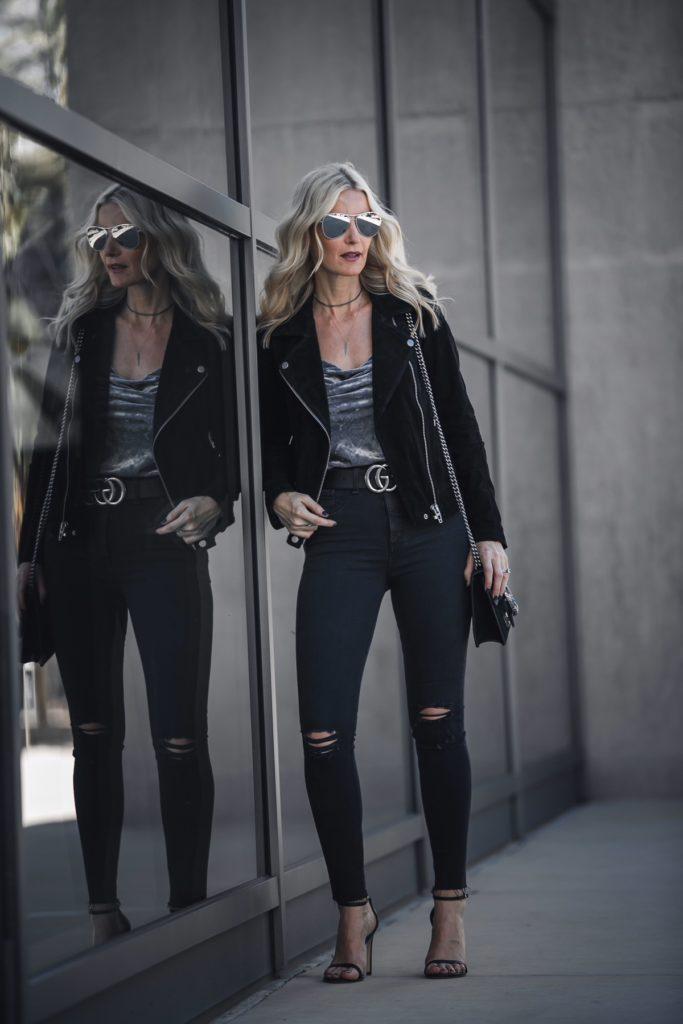 Blanknyc black moto jacket