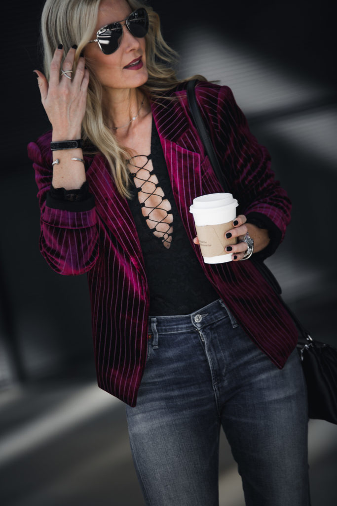 Pink Striped Blazer