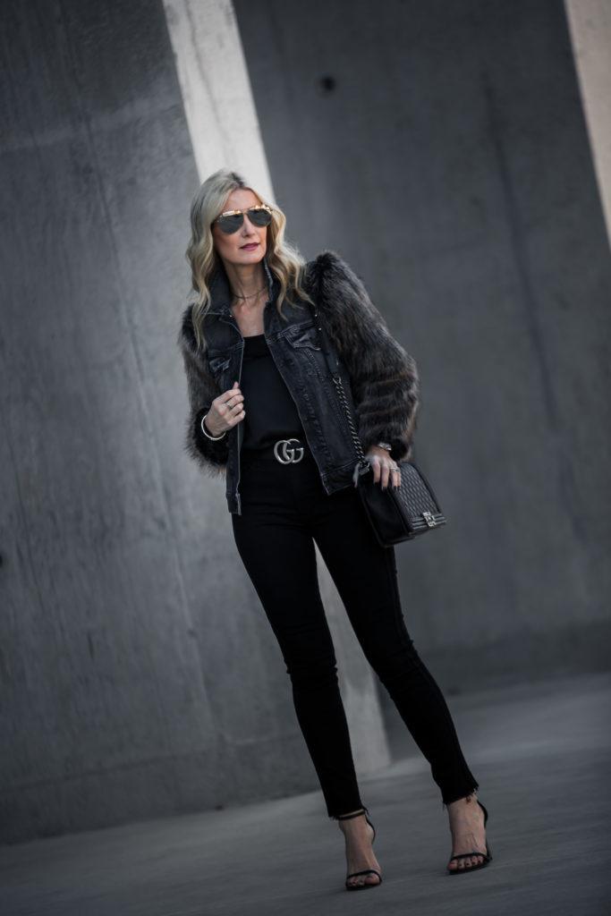 Mother Denim Faux Fur Jacket