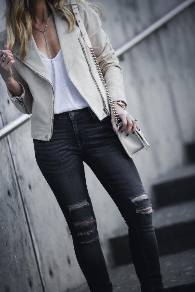 Dallas Fashion Blogger, Parker Smith Jeans, Blanknyc moto jacket