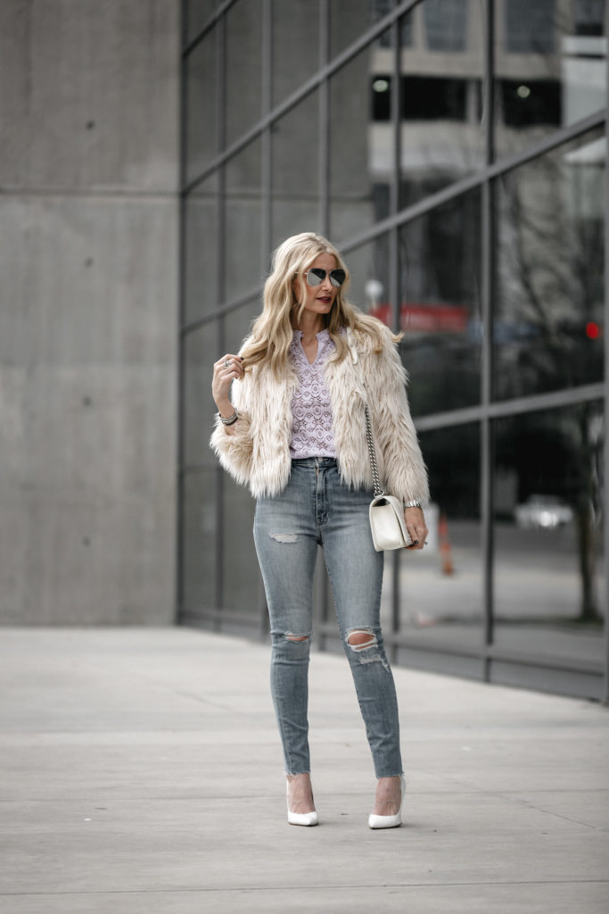 Dallas Style Blog, Heather Anderson, Spring Lace Top, Chanel Boy Bag