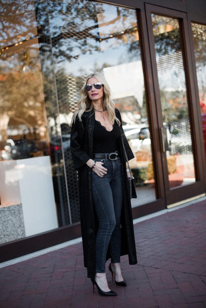 Gucci Belt, Black Kimono Outfit, Heather Anderson