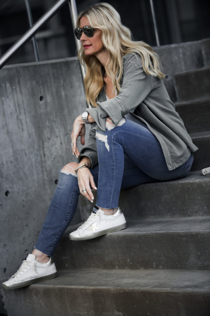 Golden Goose Sneakers, Army Jacket, Style Blogger