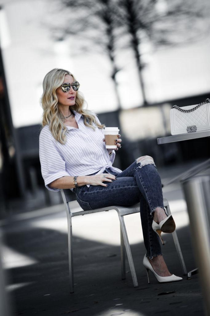 Chanel Boy Bag, Ripped Jeans, Dallas Fashion Blogger