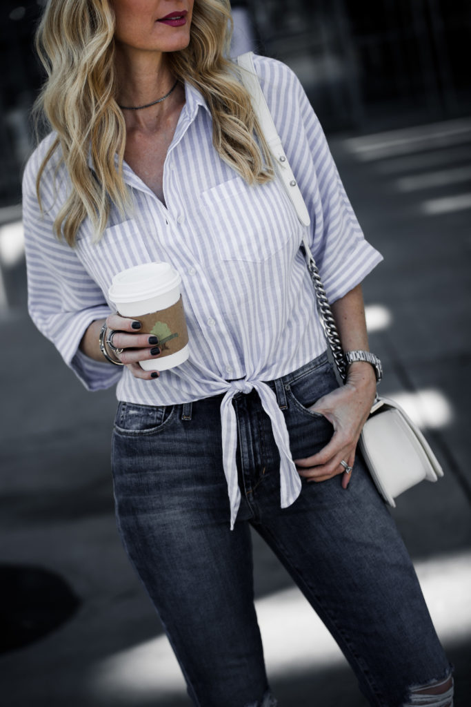 Striped Top, Chanel Boy Bag, Heather Anderson