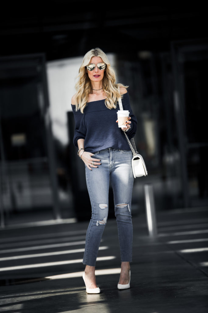 Free People Top, Levis Ripped Jeans, Heather Anderson