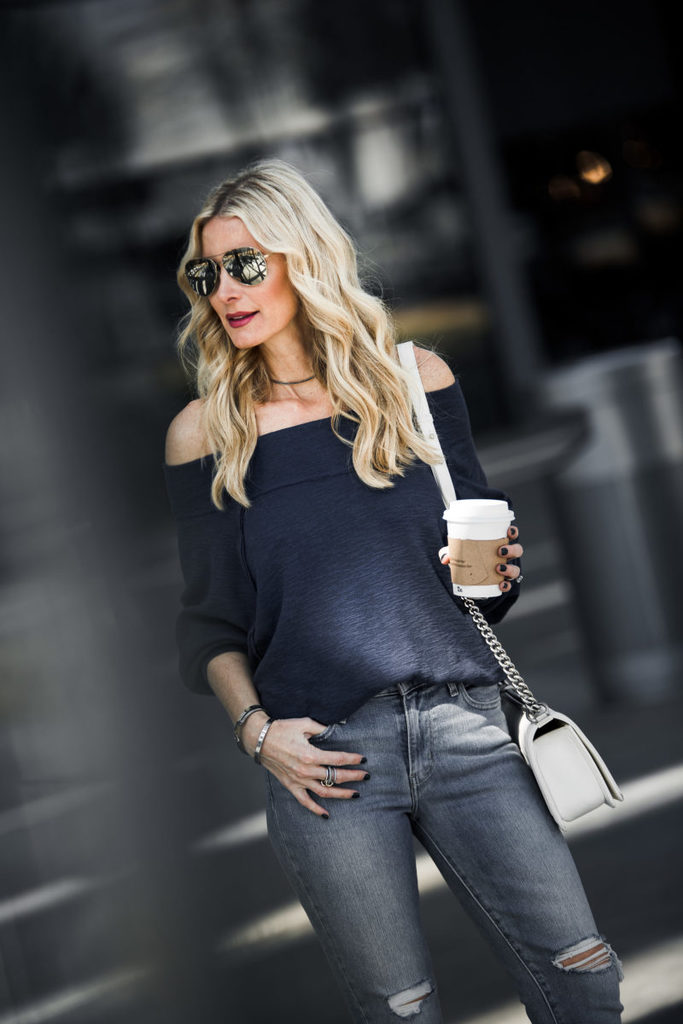 UBER CHIC DENIM + THE PERFECT CASUAL TOP: BOTH UNDER $100 + $400 GIVEAWAY TO NORDSTROM