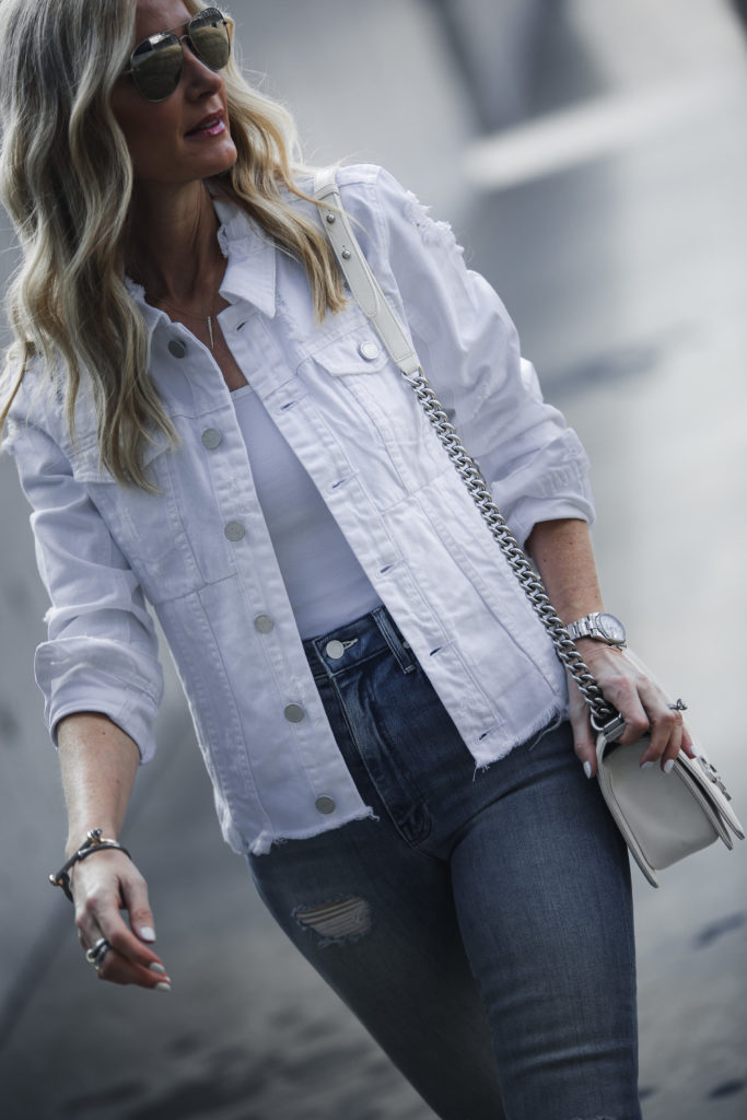 White Jean Jacket, Heather Anderson, Style Blogger