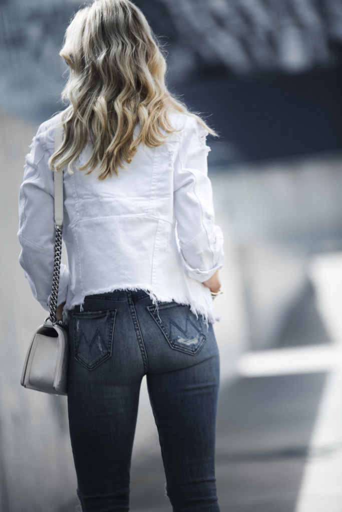 Mother Jeans, White Jean Jacket, Dallas Fashion Blogger
