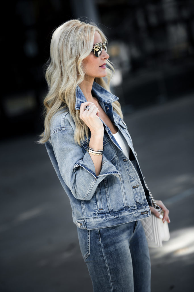 So Heather Dallas fashion blogger wearing double denim