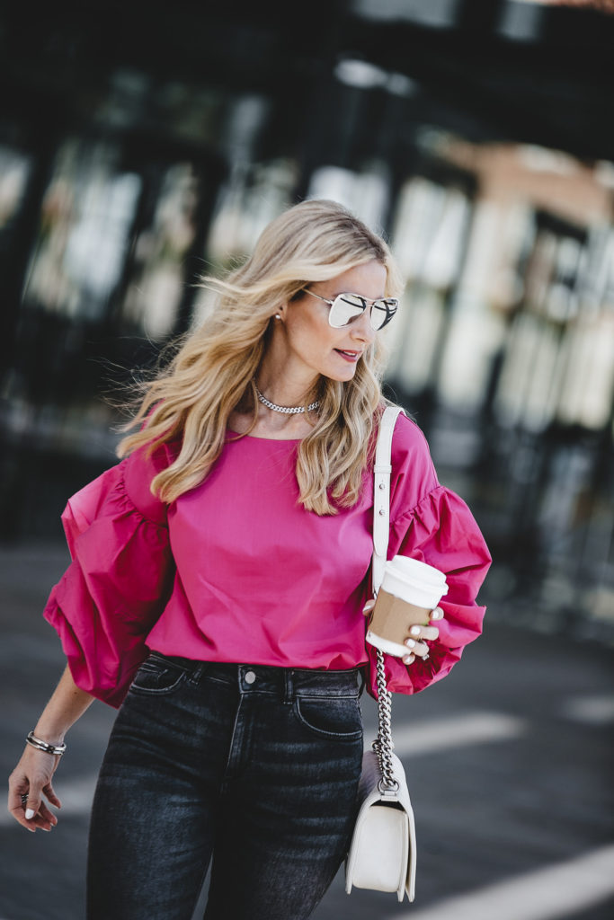 Heather Anderson, Statement Sleeve Top, Style Blogger