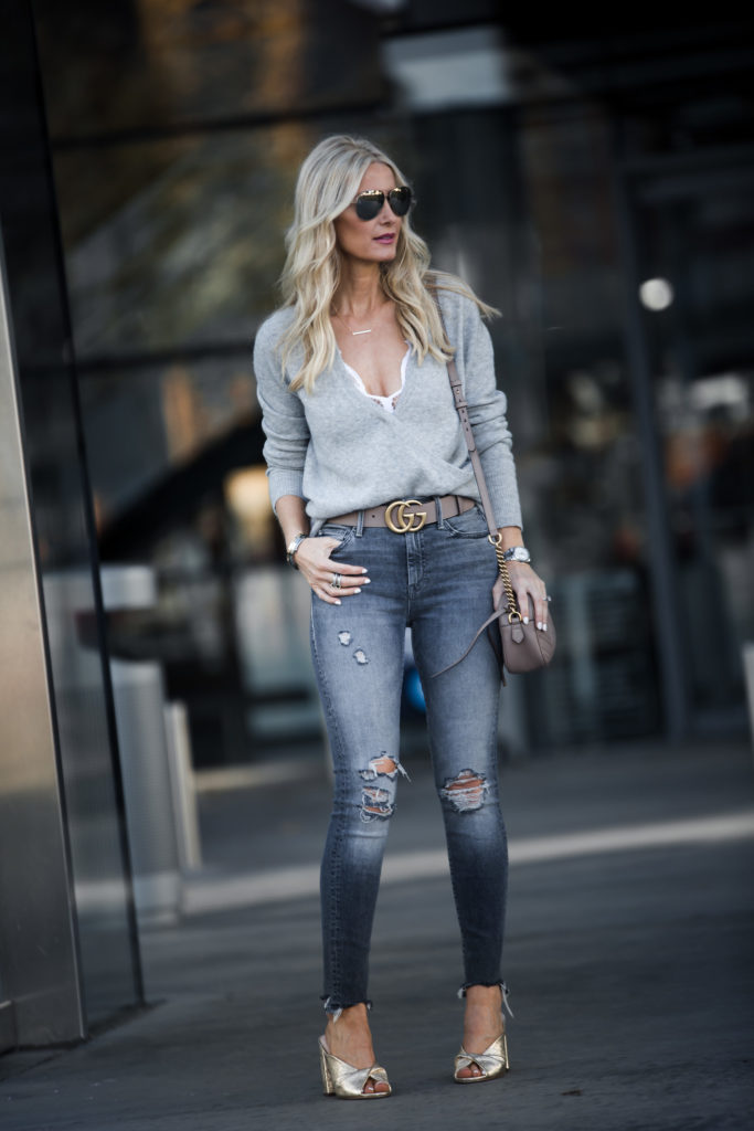 d0f17a405a4 So Heather wearing Gucci Belt and Skinny Jeans