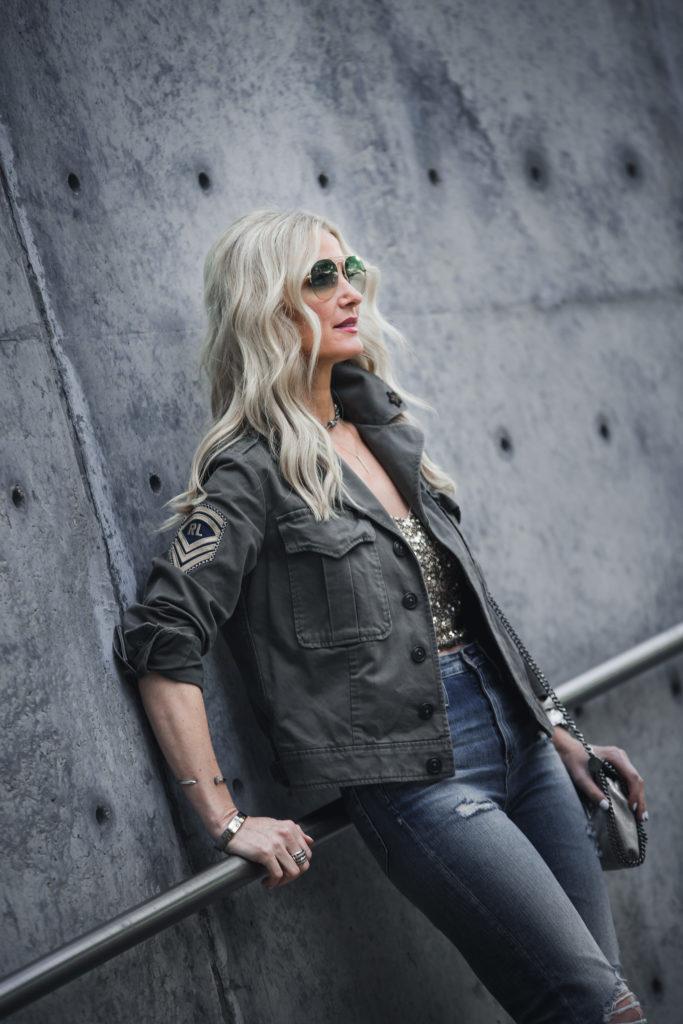 Heather Anderson wearing Ralph Lauren jacket