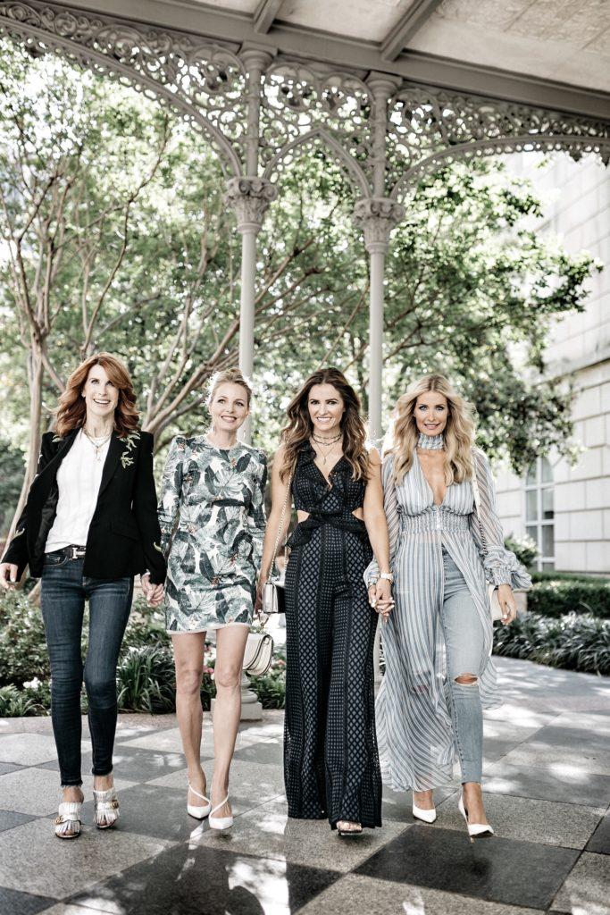 Dallas Fashion Blogger wearing Striped Maxi Dress