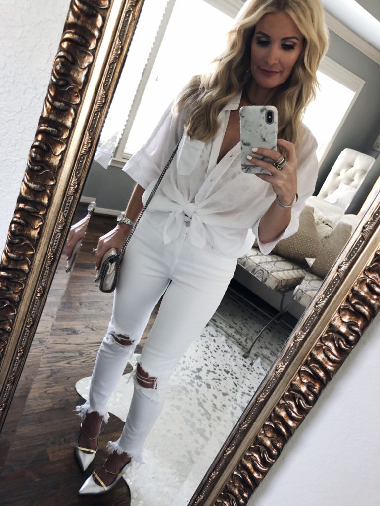 White ripped jeans from the Shopbop buy more save more sale