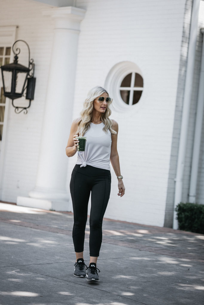 Dallas Fashion blogger wearing APL Sneakers