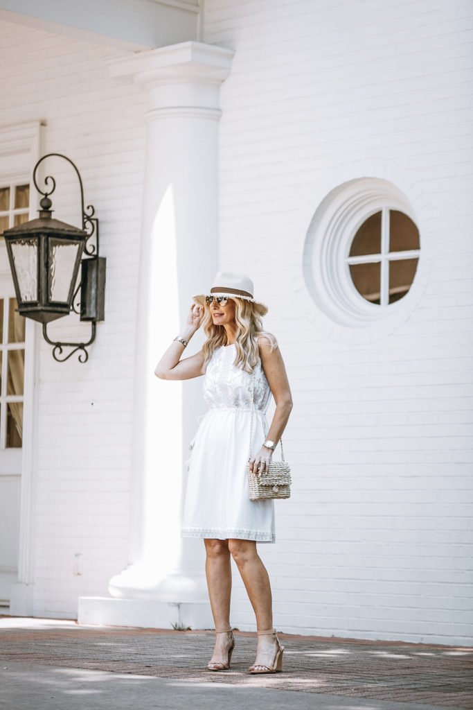 J Jill White Casual Summer Dress