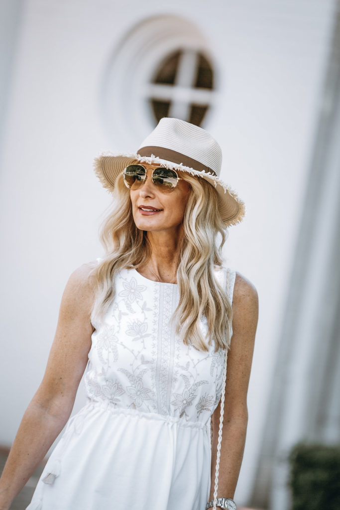 Dallas Style Blogger Wearing Straw Hat