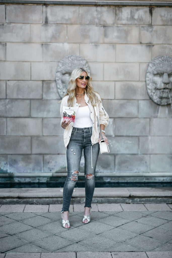Heather Anderson Wearing Free People Bomber Jacket