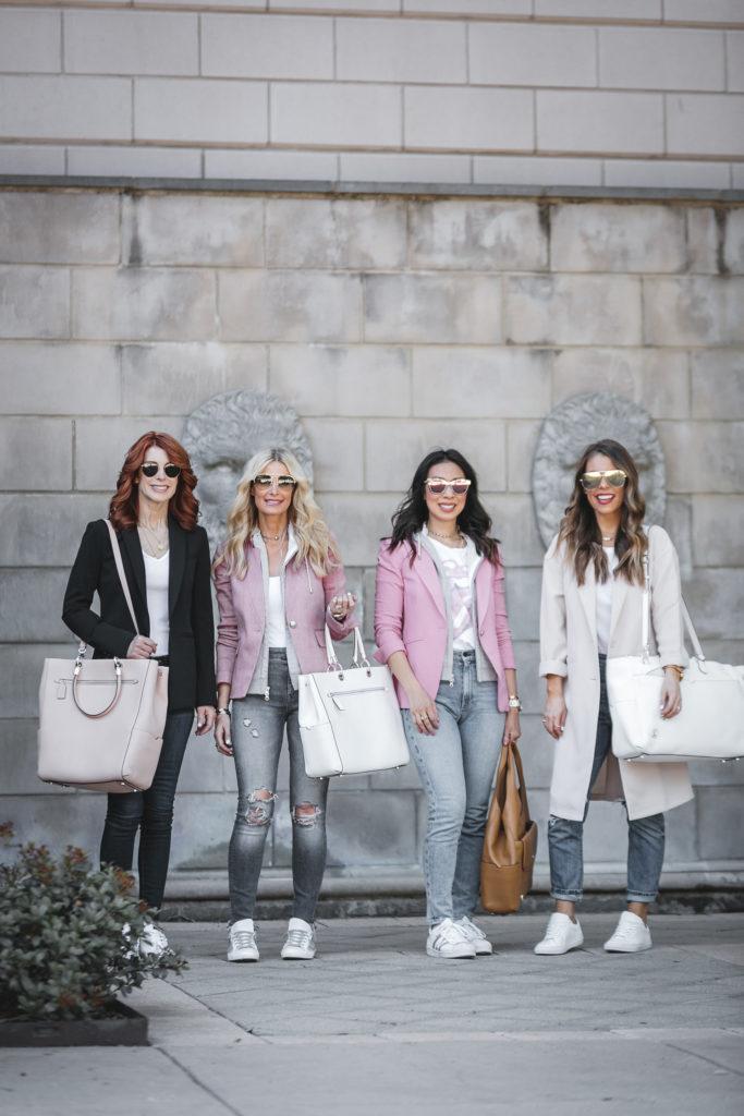 Dallas Style Blogger Carrying Travel Handbags
