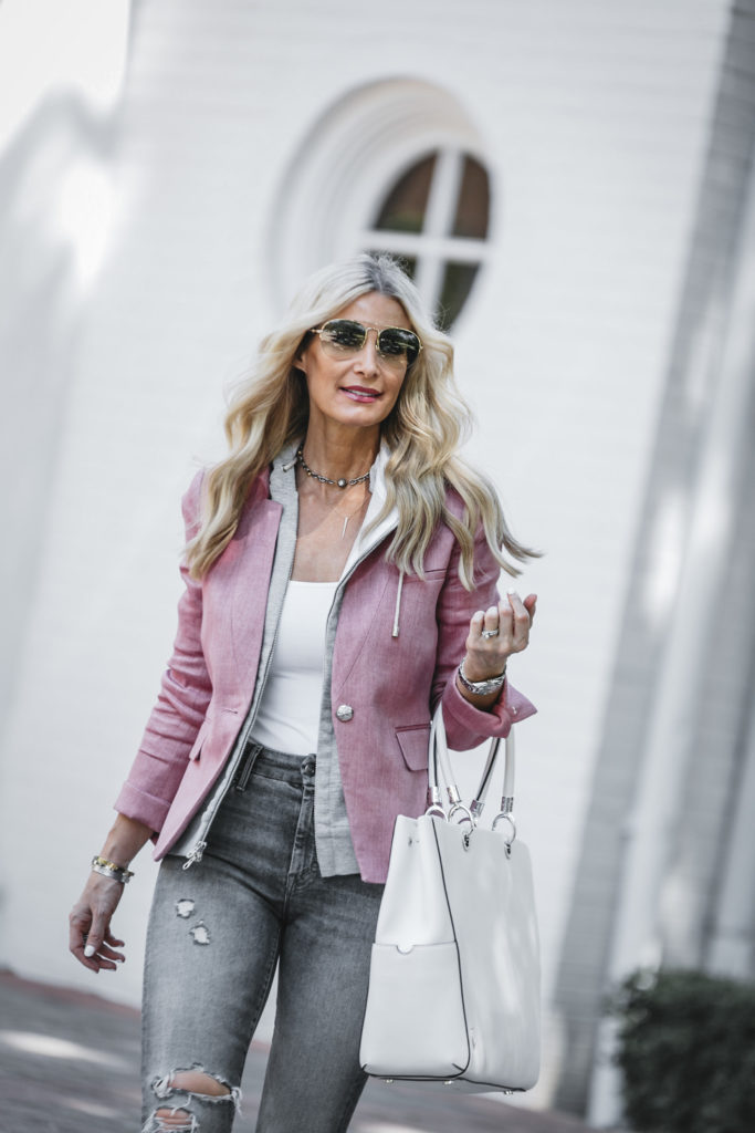 Dallas Fashion Blogger wearing Veronica Beard Blazer
