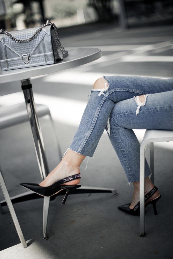 Dior heels and Dior handbag