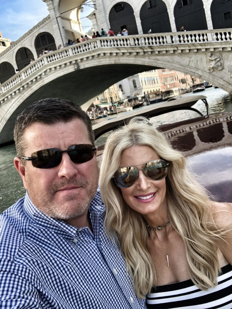 Heather and her husband - travel guide to Paris and Italy