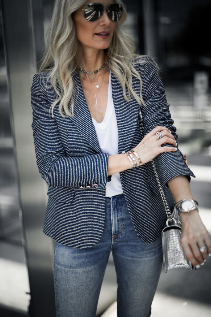 Ivanka Trump Striped Blazer and Jeans