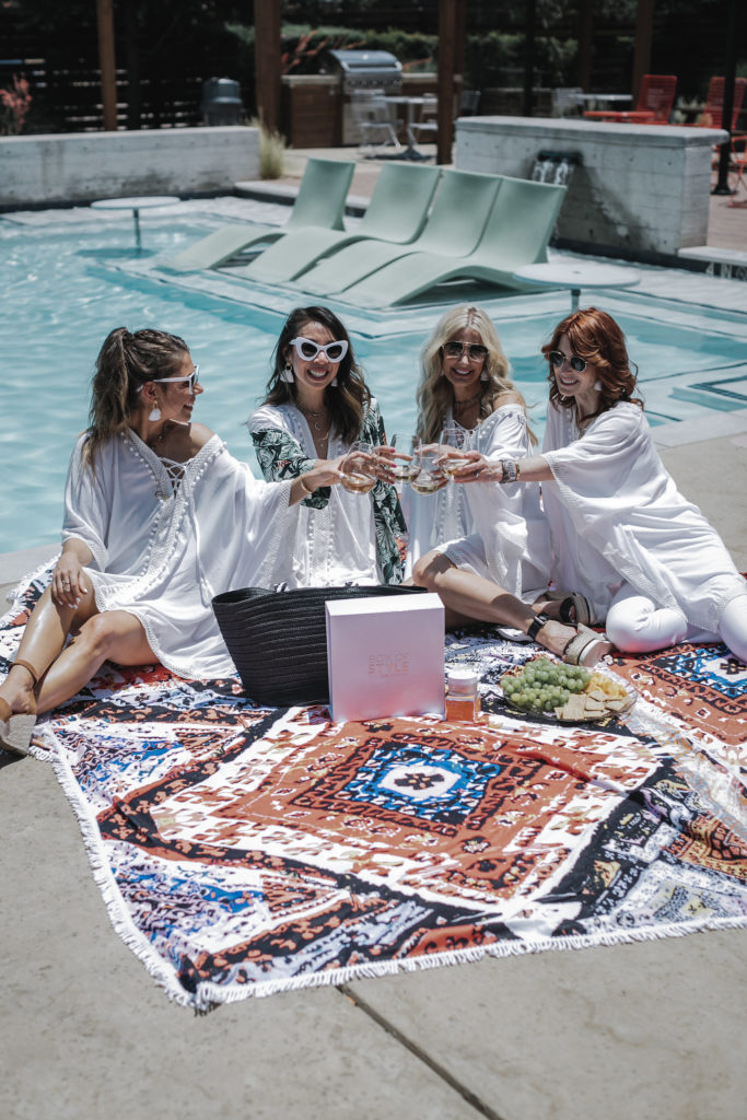 Dallas Style blogger wearing white beach cover up