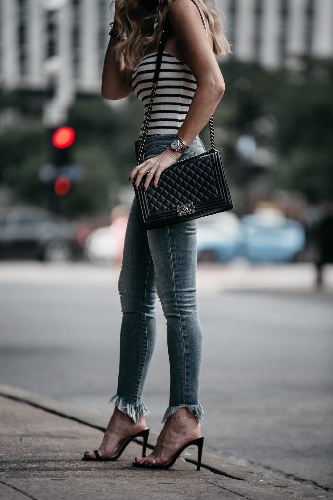 Chanel Boy Bag and Joe's Jeans