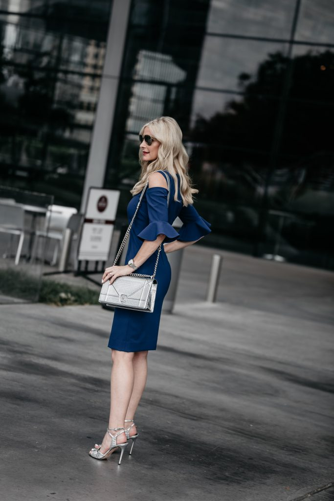 Teri Jon dress on Dallas Fashion Blogger