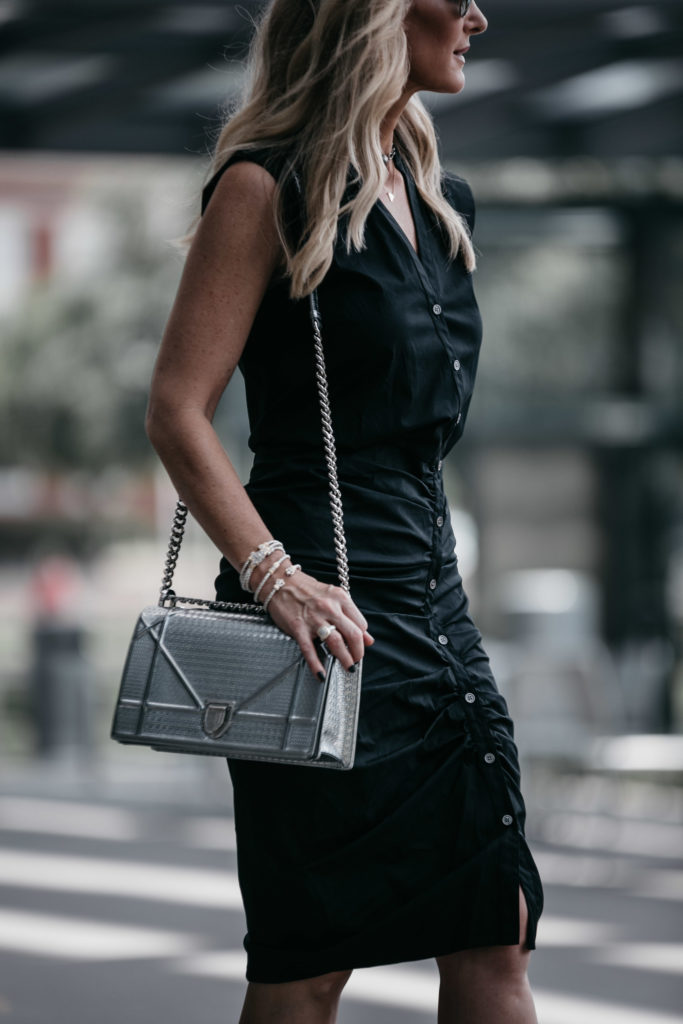 Dior Handbag and Veronica Beard Midi Dress