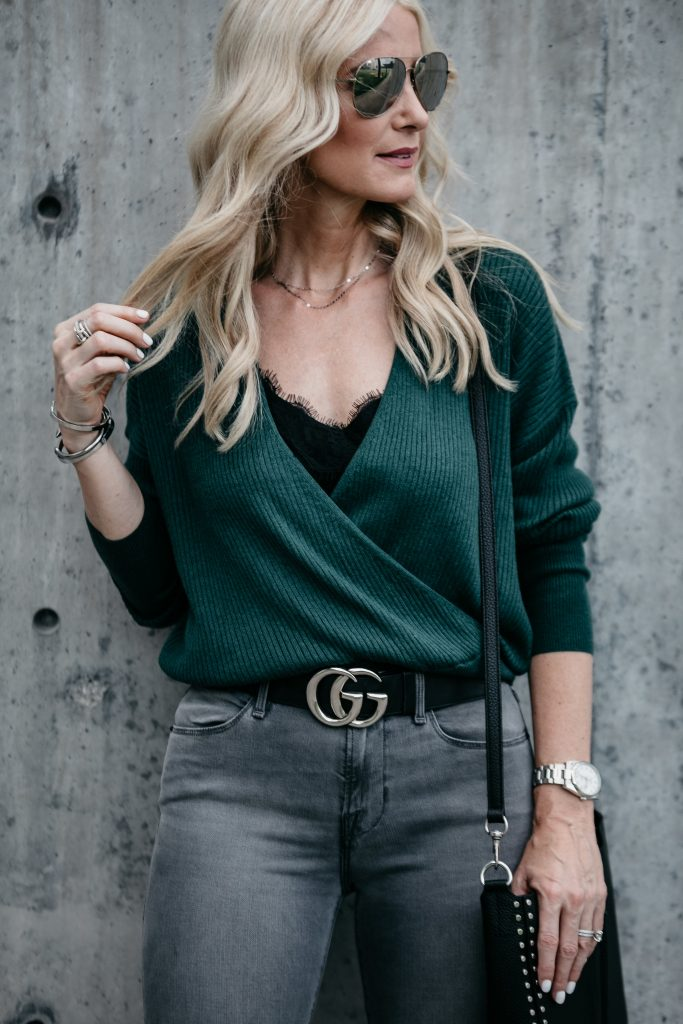 Dallas Style blogger wearing Gucci Belt
