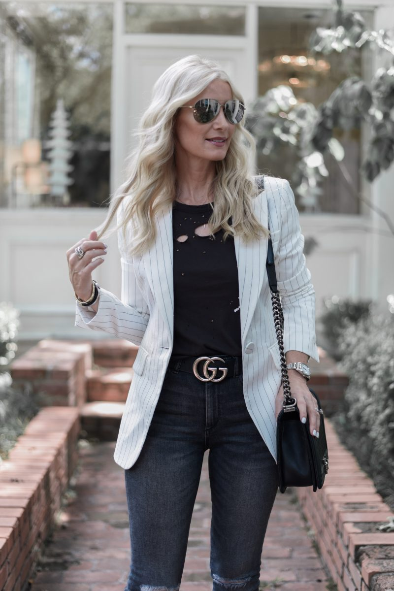 726491e595b A good white blazer is a definite wardrobe staple! It can be worn so many  places and styled so many ways. You can wear it to the office