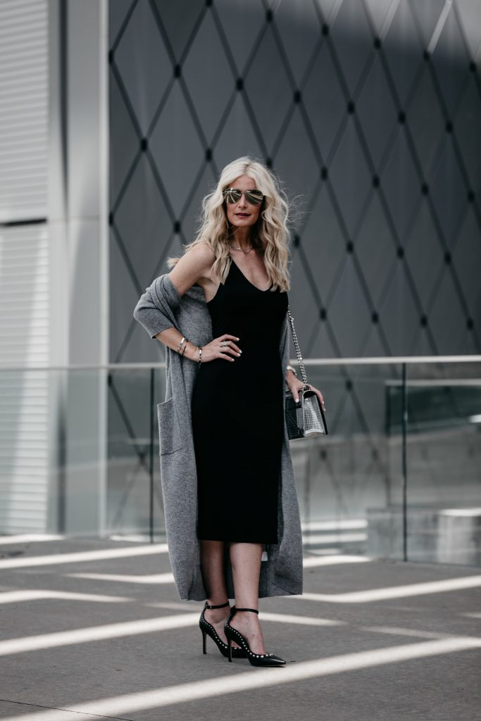 How to style a black midi dress