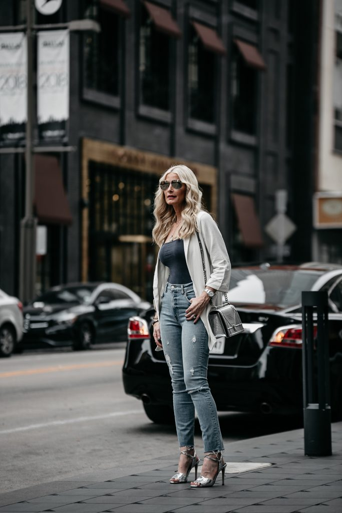 Dallas style blogger Reformation jeans