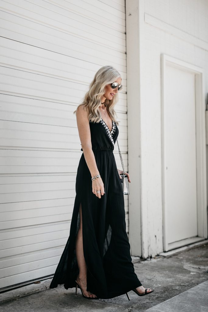 Black Jumpsuit on Dallas fashion blogger