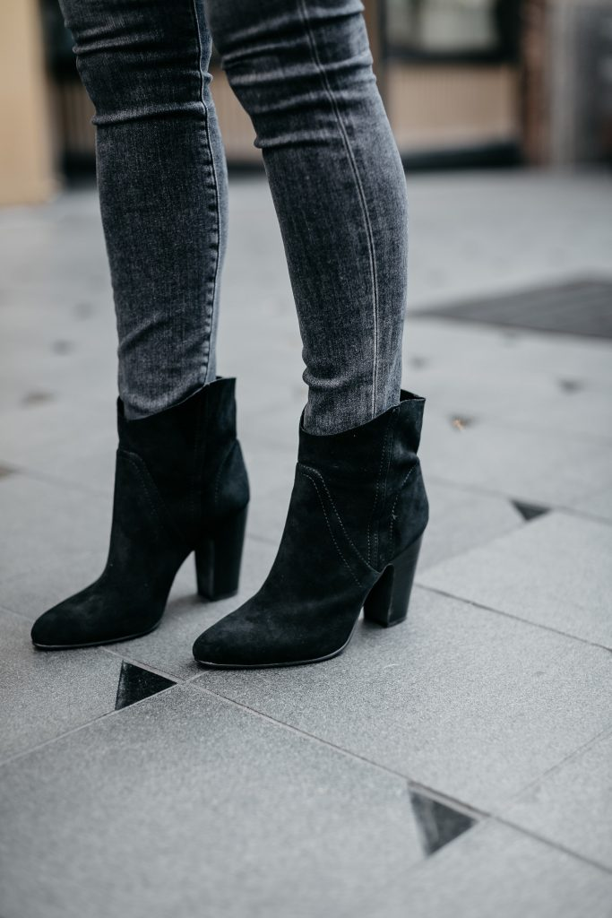 Comfortable ankle booties by Vince Camuto