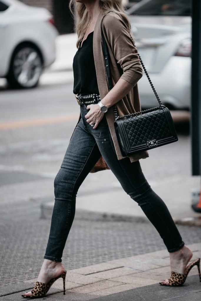 Chanel Boy Bag and Giavantio Rossi leopard heels