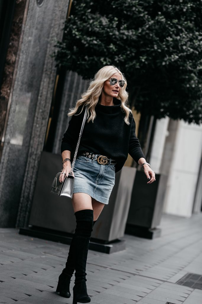 Dallas fashion blogger wearing Stuart Weitzman Over the knee boots